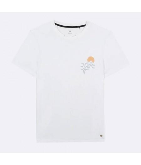 Arcy T-Shirt Coton - Blanc - WHI00 -  Vagues & Sunset  FAGUO