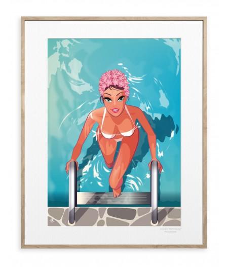 40x50 cm Monsieur Z Baigneuse - Affiche Image Republic