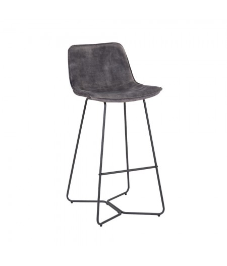 Tabouret Bar Rutano Anthracite 48x57xH103cm - Athezza