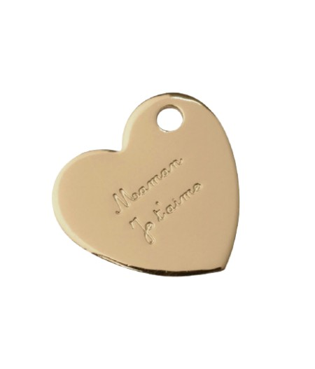 Médaille dorée Maman Je t'aime - Le Bijou de Mimi