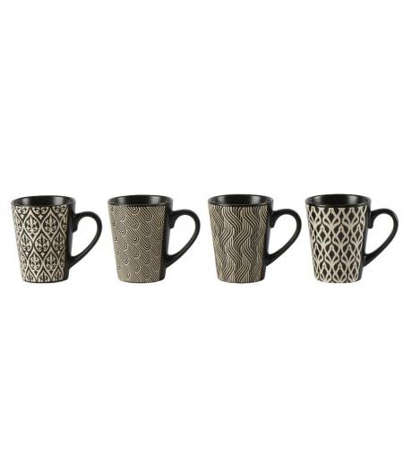 Mug Marion Set/4 D8.7x H10.7cm - Athezza