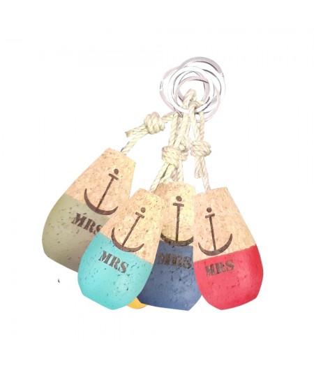 Porte-clés en liège Flotteur 5 couleurs assorties - Sophie Janière - Collection 2020