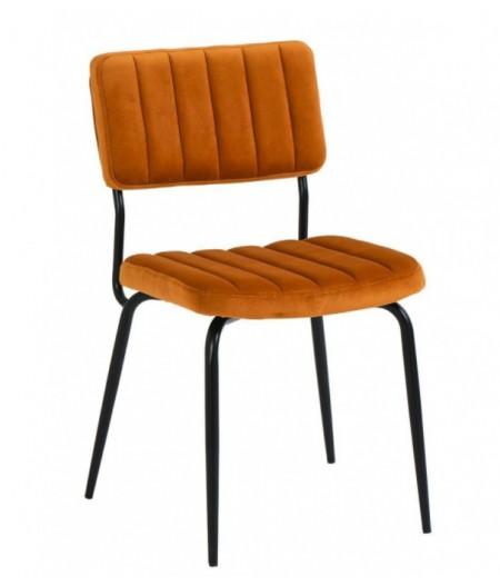 Lot de deux chaises Paddy Cognac 53x55xH82cm - Athezza