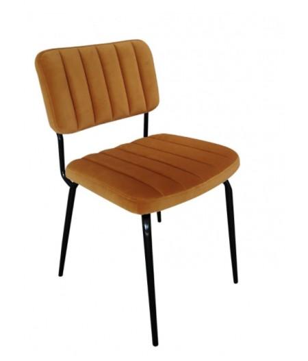 Lot de deux chaises Paddy Gold 53x55xH82cm - Athezza