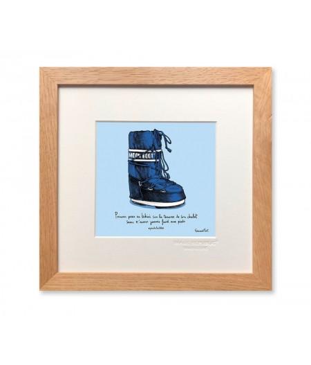22x22 cm PDTC Edouard Pont Couleur 089 Ski - Affiche Image Republic