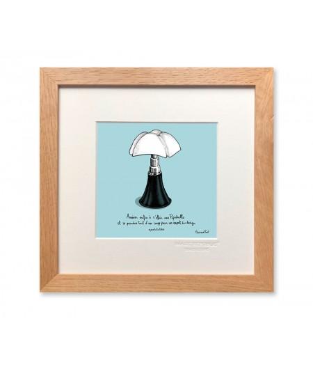 22x22 cm PDTC Edouard Pont Couleur 090 Lampe - Affiche Image Republic