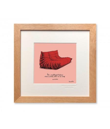 22x22 cm PDTC Edouard Pont Couleur 091 Canape - Affiche Image Republic