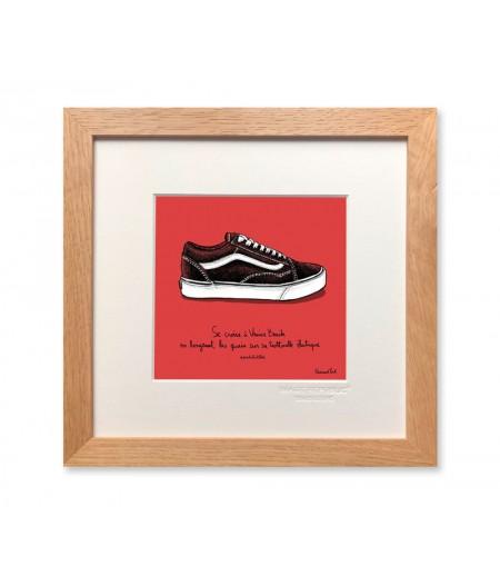 22x22 cm PDTC Edouard Pont Couleur 101 Basket - Affiche Image Republic