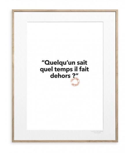 30x40 cm Loic Prigent 125 Quelqu'un Sait - Affiche Image Republic