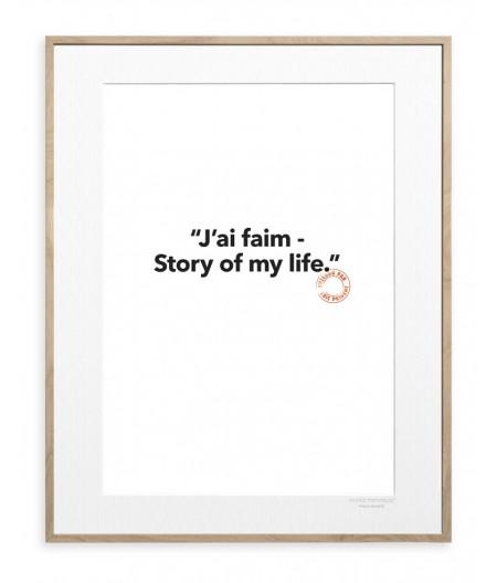 30x40 cm Loic Prigent 128 J'ai Faim. Story - Affiche Image Republic
