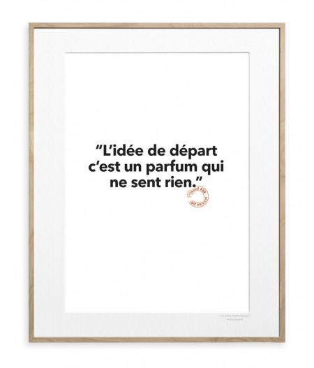 30x40 cm Loic Prigent 131 L'idee De Depart - Affiche Image Republic