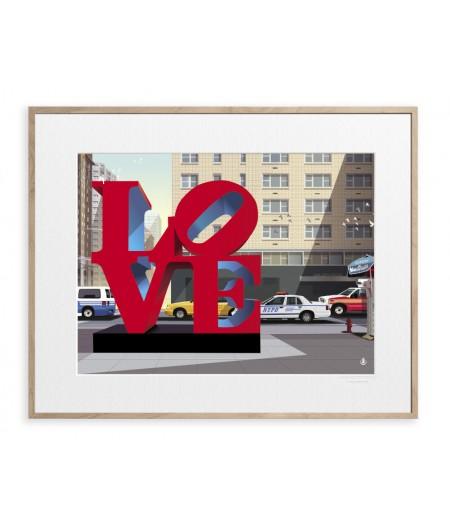 40x50 cm Monsieur Z I Love New York - Affiche Image Republic