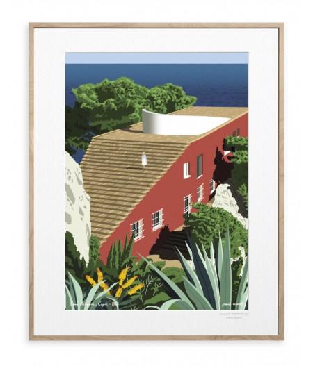 30x40 cm Paulo Mariotti Villa Malaparte - Affiche Image Republic