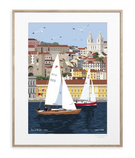 30x40 cm Paulo Mariotti Lisbonne - Affiche Image Republic