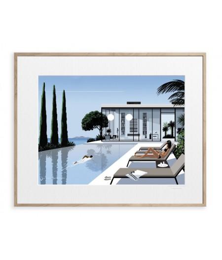 40x50 cm Jason Brooks 0003 Holiday Villa - Affiche Image Republic