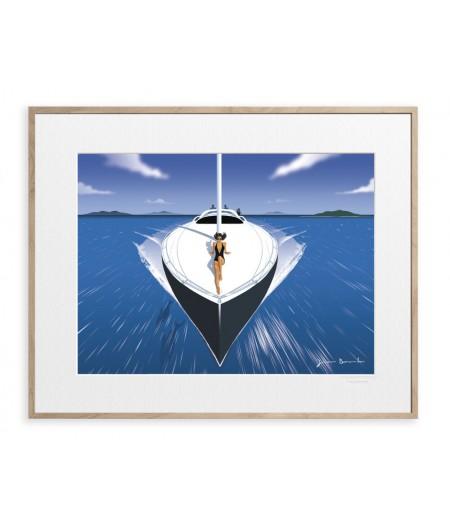 40x50 cm Jason Brooks 0006 Speedboat - Affiche Image Republic