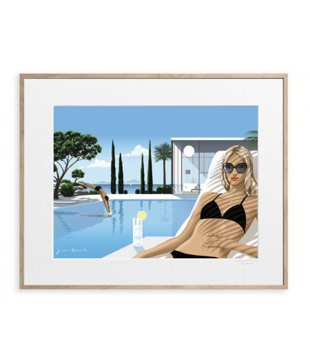 40x50 cm Jason Brooks 0008 Riviera - Affiche Image Republic
