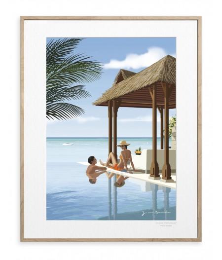 40x50 cm Jason Brooks 0009 Poolside Asia - Affiche Image Republic
