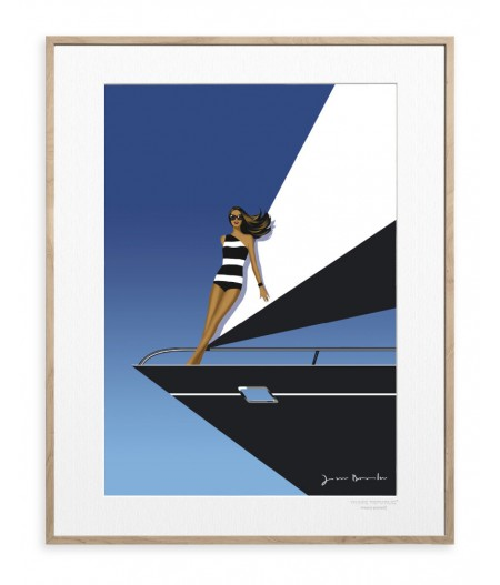 40x50 cm Jason Brooks 0010 Yacht - Affiche Image Republic