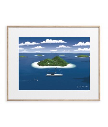 40x50 cm Jason Brooks 0013 Desert Island - Affiche Image Republic