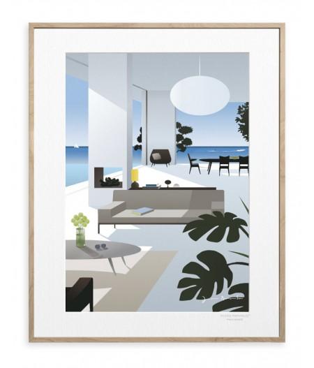 40x50 cm Jason Brooks 0017 Tropical House - Affiche Image Republic