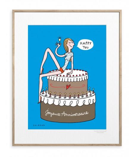 30x40 cm Soledad Happy You - Affiche Image Republic