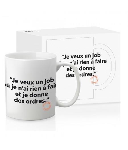 Mug Loic Prigent 016 Je Veux Un Job - Image Républic