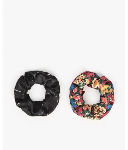 Chouchou Camila & Black Marble Scrunchies - WOUF