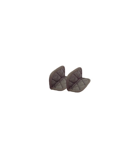 Paire de maniques coton Taupe - Moka - Cookut