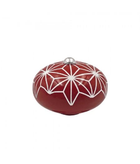 Poignée cocotte macaron céramique motif Etoile Rouge - Cookut