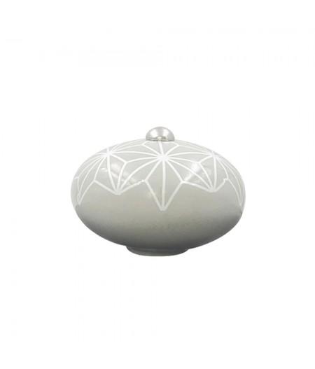 Poignée cocotte macaron céramique motif Etoile Gris - Cookut