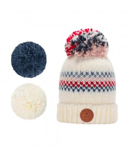 Bonnets Cabaïa - Premium - Bamboo - Polar - Cream/Red